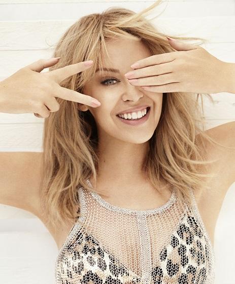One quarter of The Voice UK coaches line-up, Kylie Minogue. Image Credit: BBC/ Darenote Ltd 2013. Photographer: Leanne Buckham