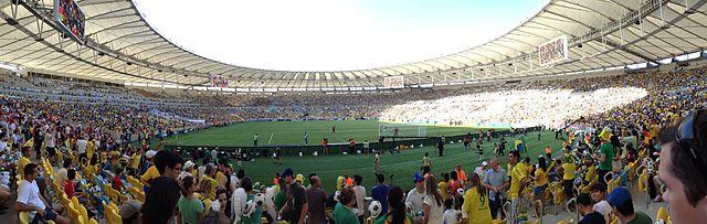 England v Brazil at the Estádio do Maracanã, Rio de Janeiro in 2013 - Photo by Mark Hillary (Wikimedia Commons)