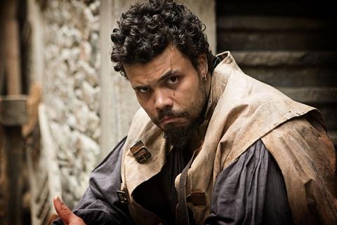 Howard Charles as Musketeer, Porthos - Image Credit: BBC Photographer: Larry Horricks
