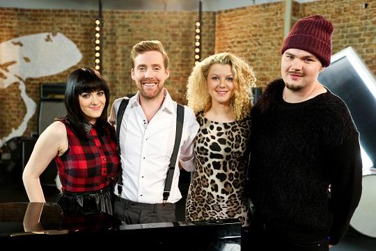 Team Ricky: Christina Marie, Ricky Wilson, Emily Adams and Chris Royal - Image Credit: BBC/Wall To Wall