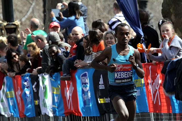 Last years London Marathon winner Tsegaye Kebede - Photo by Chmee2 (Source Wikimedia)