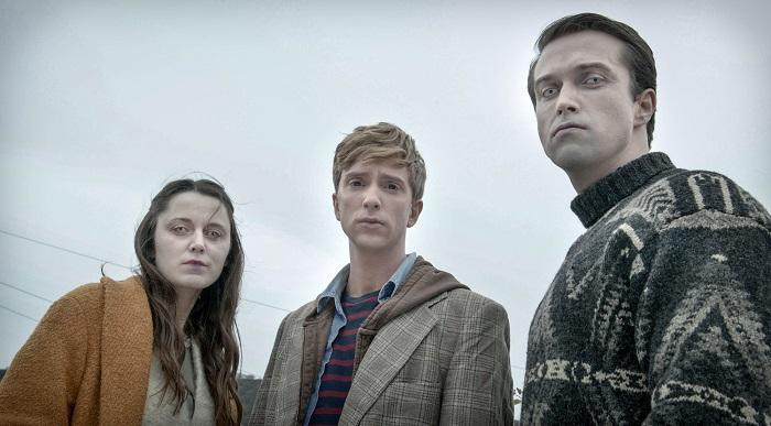 Amy (EMILY BEVAN), Kieren (LUKE NEWBERRY), Simon (EMMETT J SCANLAN) - Image Credit: BBC/Des Willie