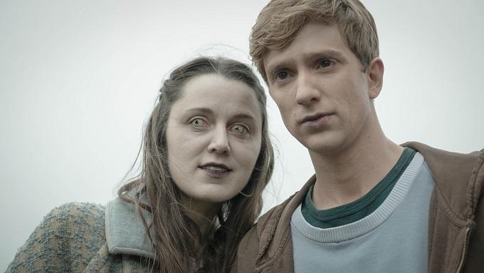 Kieren (LUKE NEWBERRY) and Amy (EMILY BEVAN) - Image Credit: BBC/Des Willie