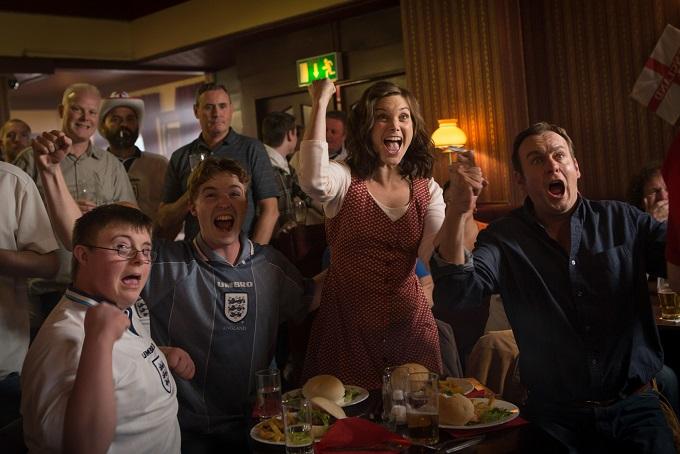 Lee (LEON HARROP), Ryan (BEN RYAN DAVIES), Joanne (LIZ WHITE) and Daniel (PHILIP GLENISTER) - Image Credit: BBC/Kudos/Robert Viglasky