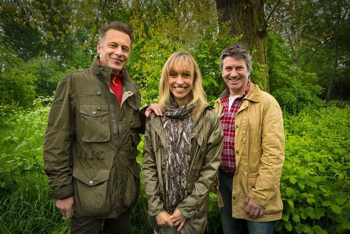 Chris Packham, Michaela Strachan and Martin Hughes-Games - Image Credit: BBC/Jo Charlesworth
