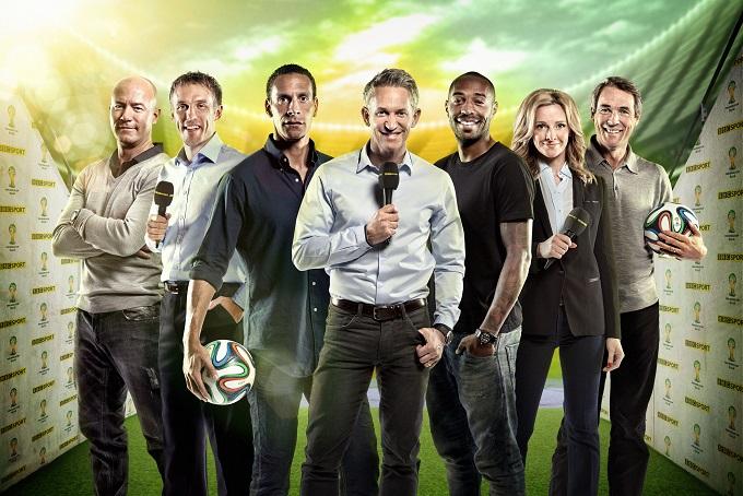 Alan Shearer, Phil Neville, Rio Ferdinand, Gary Lineker, Thierry Henry, Gabby Logan and Alan Hansen - Image Credit: BBC/Andrew Hayes-Watkins/Matthew Burlem