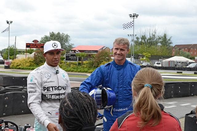 Lewis Hamilton and David Coulthard - Image Credit: BBC/THANEBRUCKLAND
