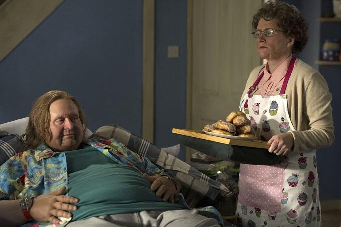 Nurse BBC cast: Graham Downes (Paul Whitehouse) and Graham's Mum (Rosie Cavaliero) - Image Credit: BBC/Des Willie