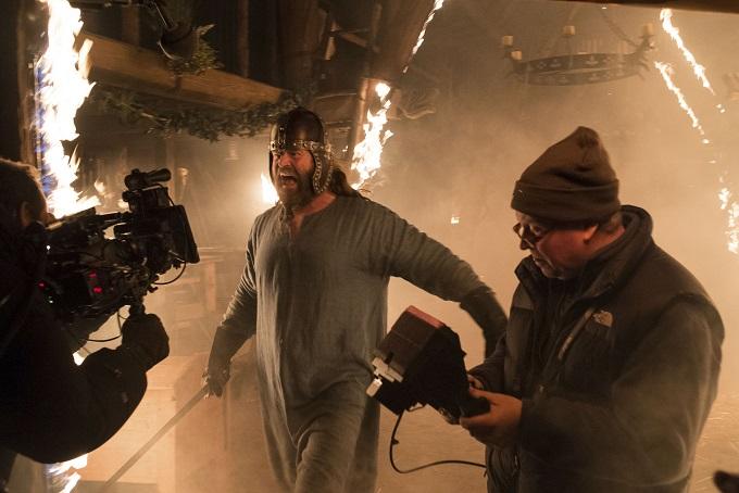 The Last Kingdom BBC Filming: Earl Ragnar (PETER GANTZLER) - Image Credit: BBC/Carnival Films/Joss Barratt