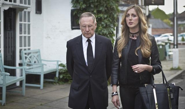 Trevor (JAMES SMITH) with Elena (MILANKA BROOKS) - Image Credit: BBC/Hattrick/Jack Barnes