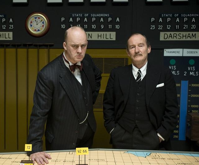 Winston Churchill (TIM MCINNERNY) with Frederick Lindemann (DAVID HAYMAN) - Image Credit: BBC/Hero Film & TV/Amanda Searle