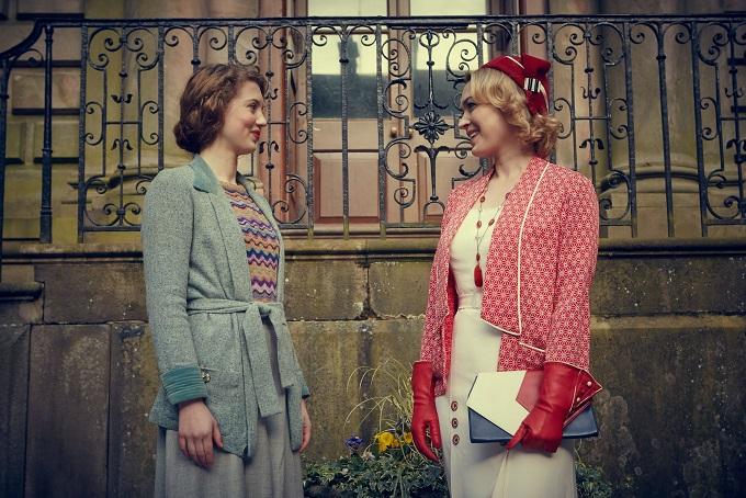 Mew Mottershead (AMELIA CLARKSON) with Lady Katherine (SOPHIA MYLES) - Image Credit: BBC/Big Talk/Robert Viglasky