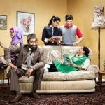 Alia (BAVNA LIMBACHIA), Mr Khan (ADIL RAY), Shazia (MAYA SONDHI), Amjad (ABDULLAH AFZAL) and Mrs Khan (SHOBU KAPOOR) - Image Credit: BBC. Photographer: Jay Brooks