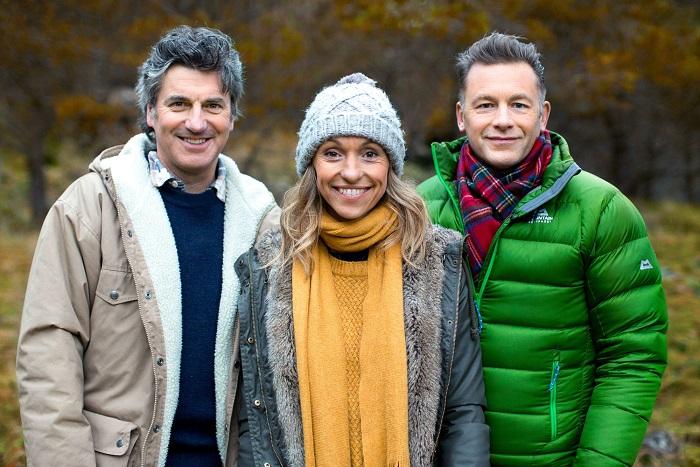 Autumnwatch 2014: Martin Hughes-Games, Michaela Strachan and Chris Packham - Image Credit: BBC NHU. Photographer: Jo Charlesworth