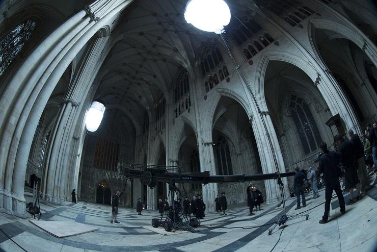 Filming inside York Minster Cathedral - Image Credit: BBC/JSMN Ltd/Matt Squire